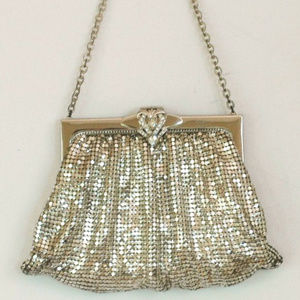 Whiting and Davis Vintage 1970's Silver Mesh Purse